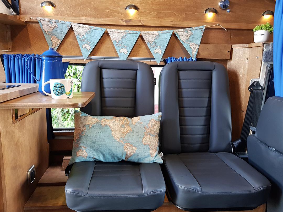 camper van hire - camper interior