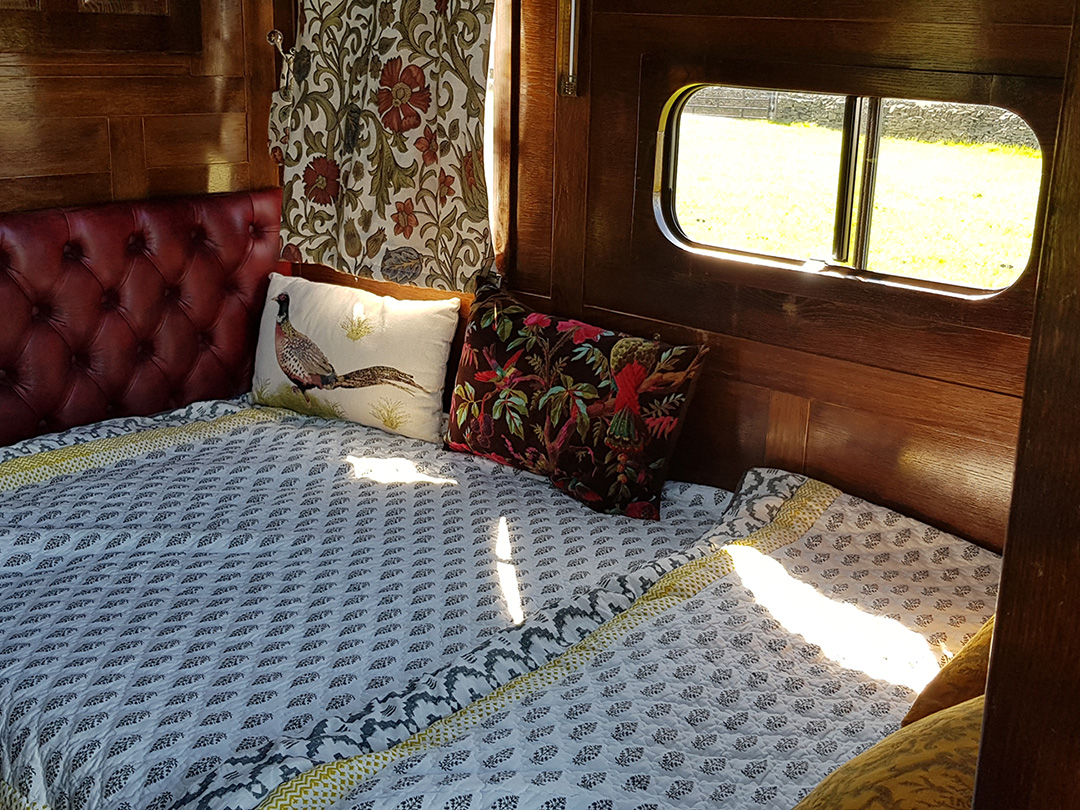 luxury campervan hire fold out bed