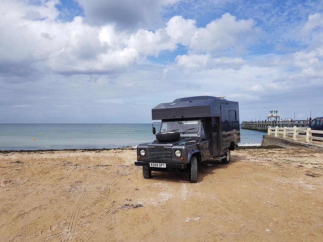 motorhome hire - beach