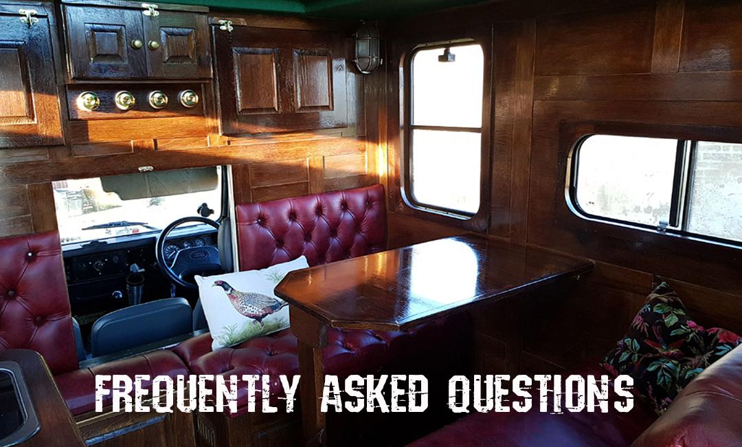 campervan hire - camper interior
