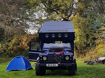 Land Rover Defender campervan exterior - 4x4 camper hire