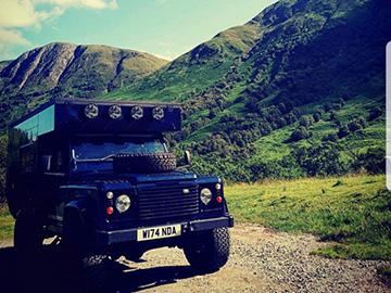 Land Rover Defender - 4x4 camper hire
