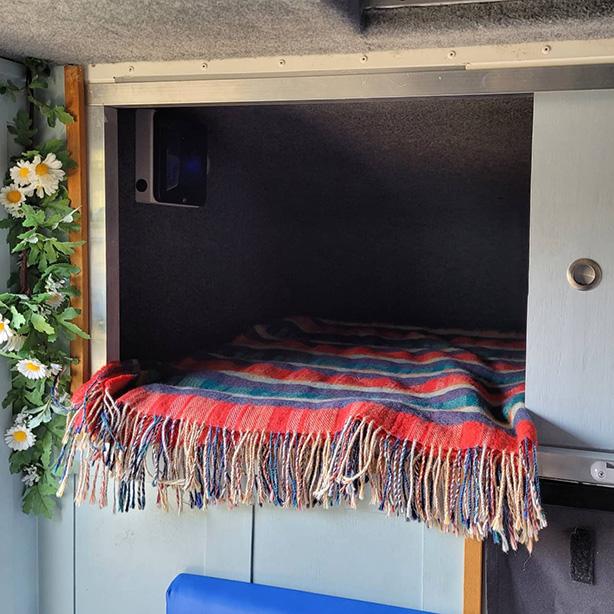 over cab camper bed