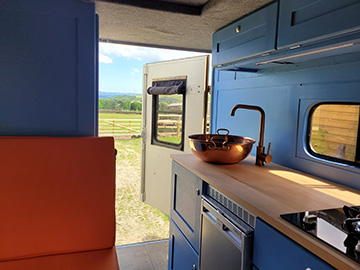 landy camper interior