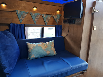 Land Rover campervan interior