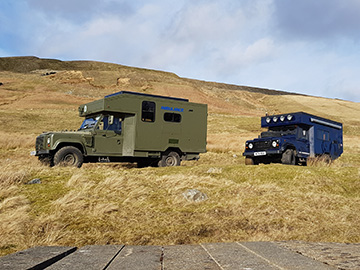 land rover camper hire in Yorkshire Dales