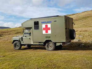 land rover ambulance camper