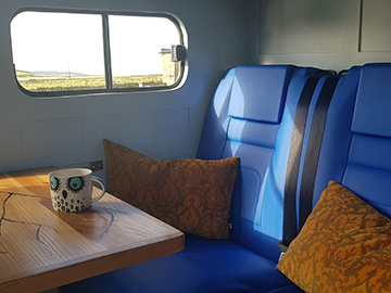 land rover camper hire seating