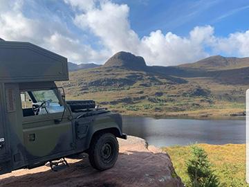 land rover camper hire scotland