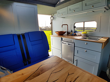 land rover camper interior